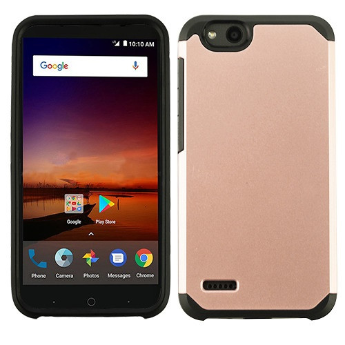 Asmyna Astronoot Protector Cover for Zte N9137 (Tempo X) - Rose Gold / Black