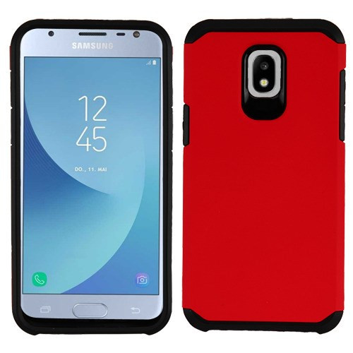 Asmyna Astronoot Protector Cover for Samsung J337 (Galaxy J3 (2018)) - Red / Black