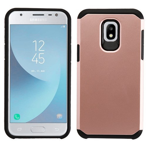 Asmyna Astronoot Protector Cover for Samsung J337 (Galaxy J3 (2018)) - Rose Gold / Black