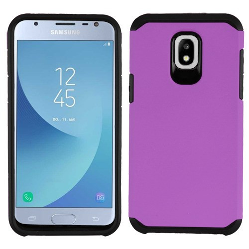 Asmyna Astronoot Protector Cover for Samsung J337 (Galaxy J3 (2018)) - Purple / Black