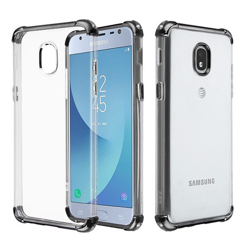 Asmyna Klarion Candy Skin Cover for Samsung J337 (Galaxy J3 (2018)) - Electroplating Black / Transparent Clear
