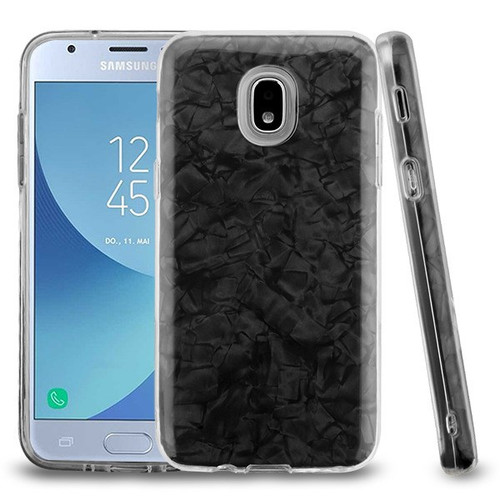 Asmyna Hybrid Protector Cover for Samsung J337 (Galaxy J3 (2018)) - Black Jade Texture Full