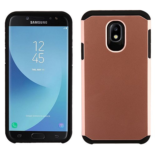 Asmyna Astronoot Protector Cover for Samsung J737P (Galaxy J7 (2018)) - Rose Gold / Black