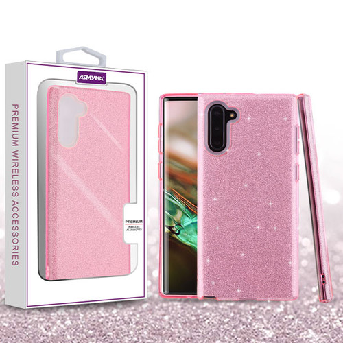 Asmyna Full Glitter Hybrid Protector Cover for Samsung Galaxy Note 10 (6.3) - Pink