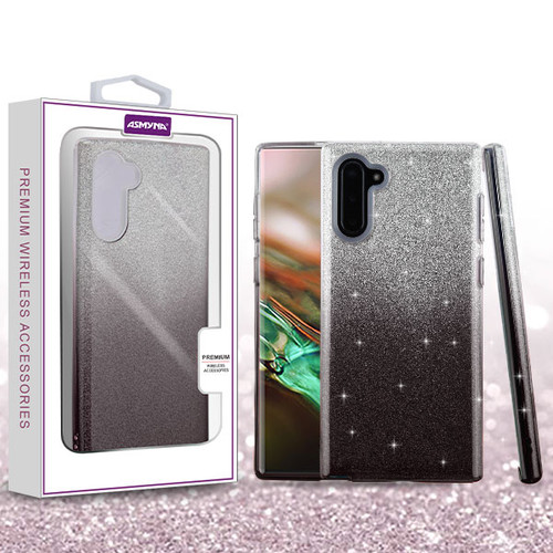 Asmyna Gradient Glitter Hybrid Protector Cover for Samsung Galaxy Note 10 (6.3) - Dark Lilac