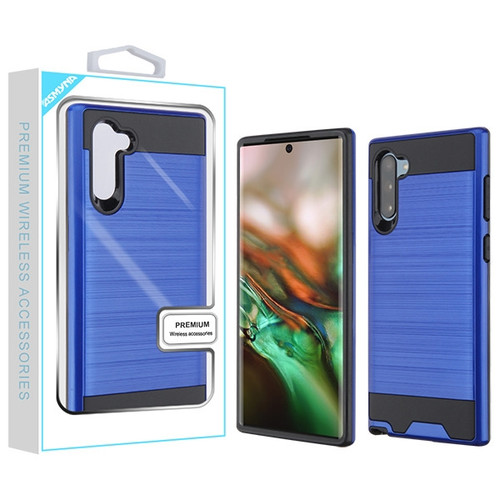 Asmyna Brushed Hybrid Protector Cover for Samsung Galaxy Note 10 (6.3) - Dark Blue / Black