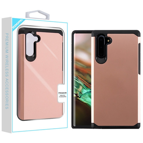 Asmyna Astronoot Protector Cover for Samsung Galaxy Note 10 (6.3) - Rose Gold / Black