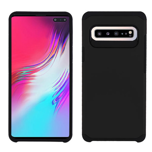 Asmyna Astronoot Protector Cover for Samsung Galaxy S10 5G - Black / Black