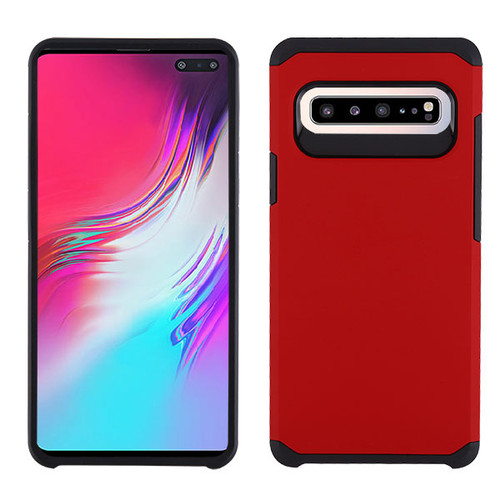 Asmyna Astronoot Protector Cover for Samsung Galaxy S10 5G - Red / Black