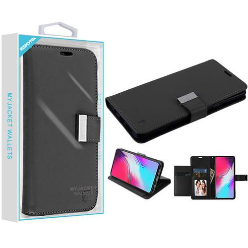 Asmyna MyJacket Wallet Xtra Series for Samsung Galaxy S10 5G - Black / Black