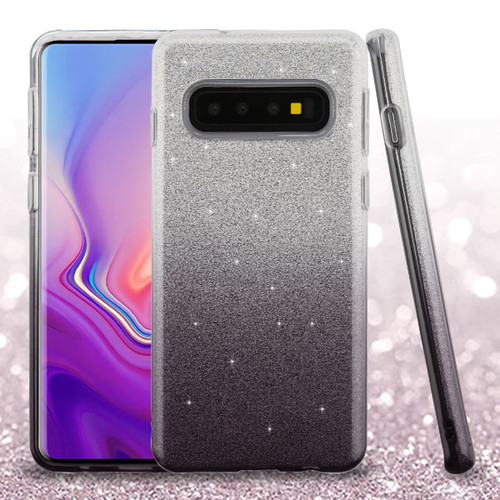 Asmyna Gradient Glitter Hybrid Protector Cover for Samsung Galaxy S10 - Dark Lilac