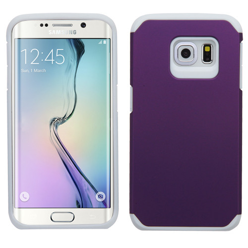 Asmyna Astronoot Protector Cover for Samsung G925 (Galaxy S6 Edge) - Purple / White