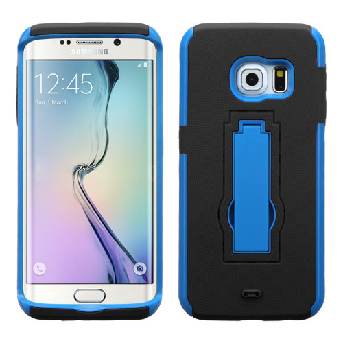 Asmyna Symbiosis Stand Protector Cover for Samsung G925 (Galaxy S6 Edge) - Dark Blue / Black