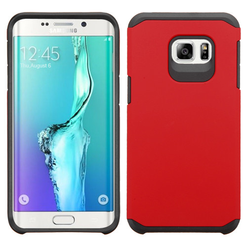Asmyna Astronoot Protector Cover for Samsung Galaxy S6 edge Plus - Red / Black