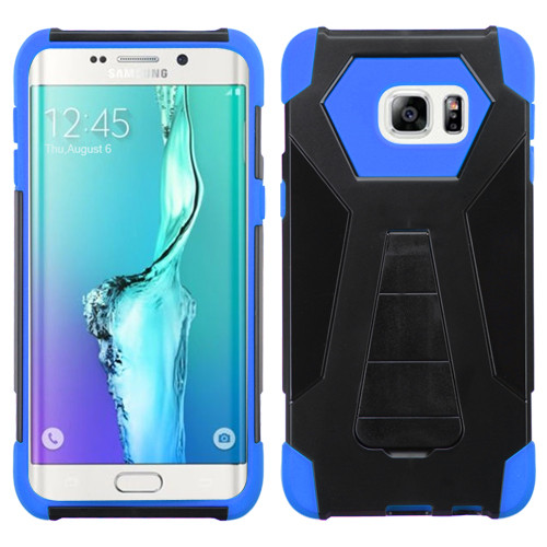 Asmyna Advanced Armor Stand Protector Cover for Samsung Galaxy S6 edge Plus - Blue Inverse