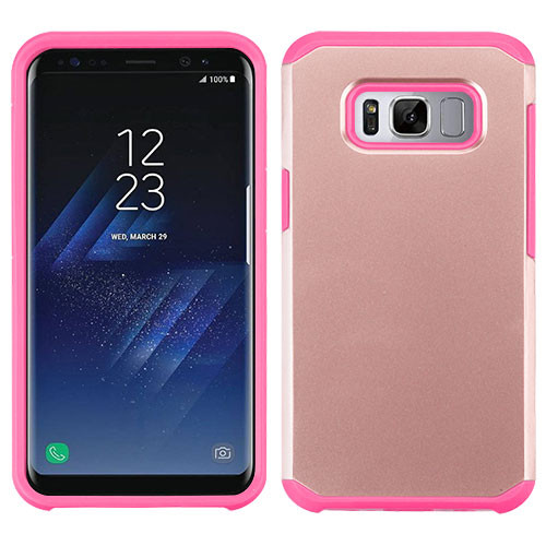 Asmyna Astronoot Protector Cover for Samsung Galaxy S8 - Rose Gold / Hot Pink