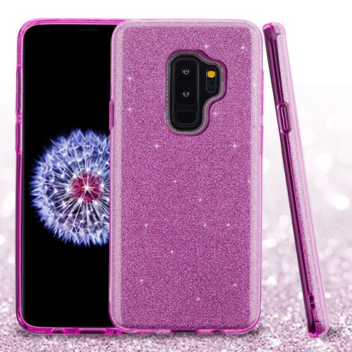 Asmyna Full Glitter Hybrid Protector Cover for Samsung Galaxy S9 Plus - Purple
