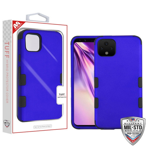 MyBat TUFF Hybrid Protector Cover [Military-Grade Certified] for Google Pixel 4 XL - Titanium Dark Blue / Black