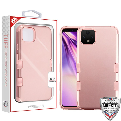 MyBat TUFF Hybrid Protector Cover [Military-Grade Certified] for Google Pixel 4 XL - Rose Gold / Rose Gold