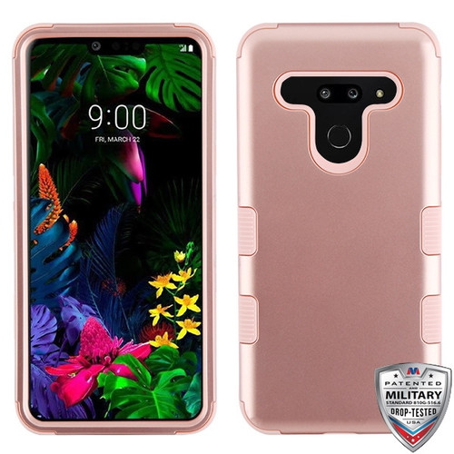 MyBat TUFF Hybrid Protector Cover [Military-Grade Certified] for Lg G8 ThinQ - Rose Gold / Rose Gold