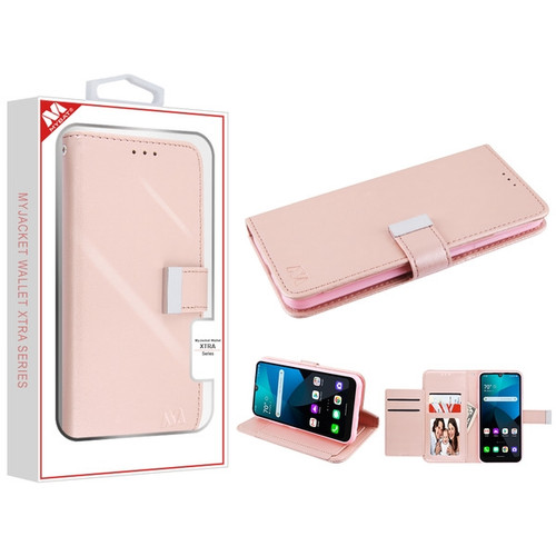 MyBat MyJacket Wallet Xtra Series for Lg Harmony 4 - Rose Gold