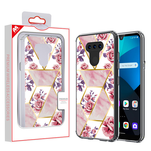 MyBat Fusion Protector Cover for Lg Harmony 4 - Electroplated Roses Marbling