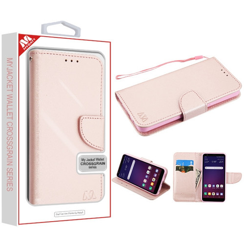 MyBat Liner MyJacket Wallet Crossgrain Series for Lg X320 (Escape Plus) - Rose Gold Pattern / Rose Gold
