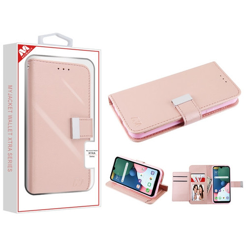 MyBat MyJacket Wallet Xtra Series for Lg K31 (Aristo 5)/Fortune 3 - Rose Gold