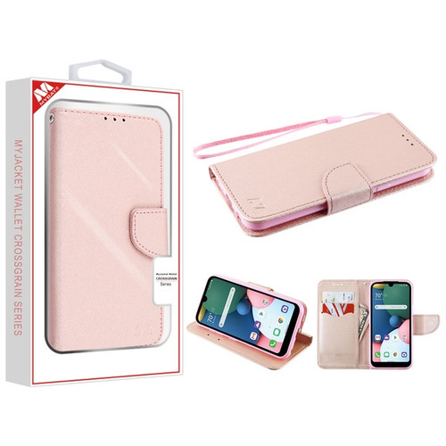 MyBat Liner MyJacket Wallet Crossgrain Series for Lg K31 (Aristo 5)/Fortune 3 - Rose Gold Pattern / Rose Gold