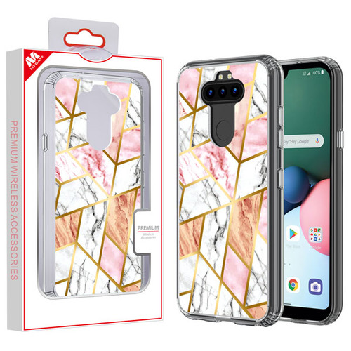 MyBat Fusion Protector Cover for Lg K31 (Aristo 5)/Fortune 3 - Electroplated Pink Marbling