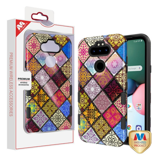 MyBat TUFF Subs Hybrid Case for Lg K31 (Aristo 5)/Fortune 3 - Mediterranean / Black