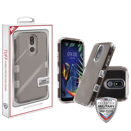 MyBat TUFF Lucid Hybrid Protector Cover [Military-Grade Certified] for Lg K40 - Transparent Smoke / Transparent Clear