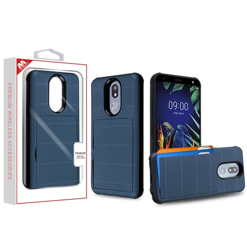 MyBat Poket Hybrid Protector Cover for Lg K40 - Ink Blue / Black