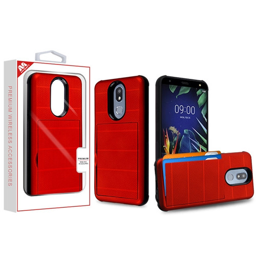 MyBat Poket Hybrid Protector Cover for Lg K40 - Red / Black