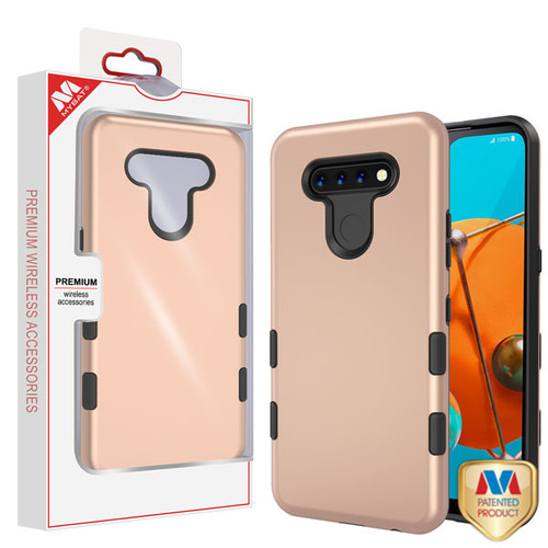 MyBat TUFF Subs Hybrid Case for Lg K51 - Rose Gold / Black