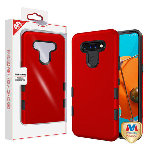 MyBat TUFF Subs Hybrid Case for Lg K51 - Titanium Red / Black