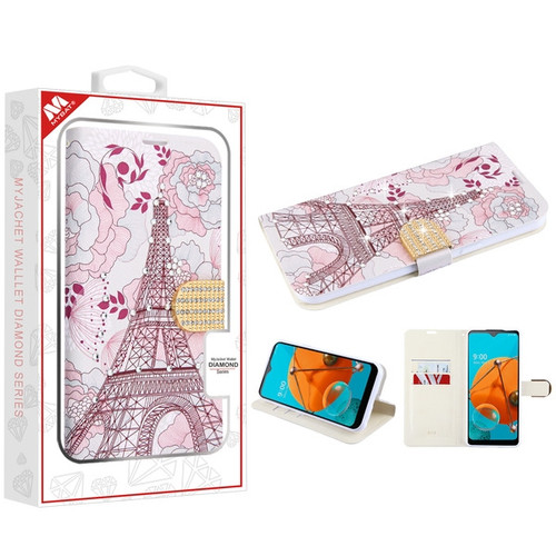 MyBat MyJacket Wallet Diamond Series for Lg K51 - Eiffel Tower