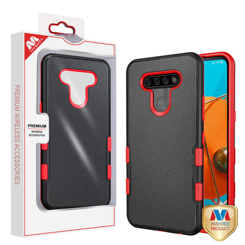 MyBat TUFF Subs Hybrid Case for Lg K51 - Natural Black / Red