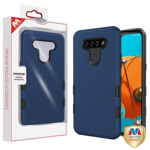 MyBat TUFF Subs Hybrid Case for Lg K51 - Rubberized Ink Blue / Black