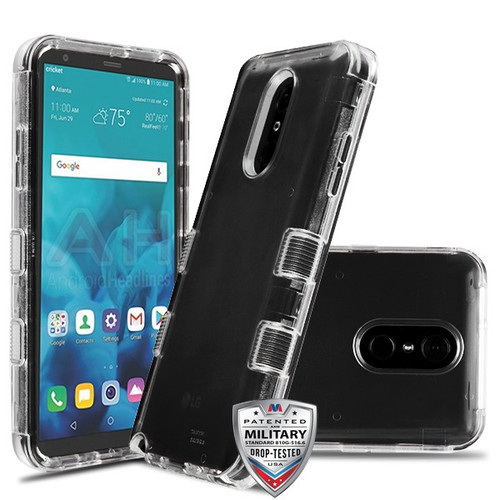 MyBat TUFF Lucid Hybrid Protector Cover [Military-Grade Certified] for Lg Stylo 4 - Transparent Clear / Transparent Clear