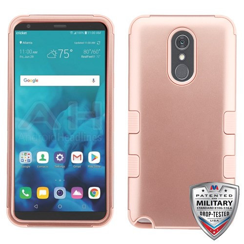 MyBat TUFF Hybrid Protector Cover [Military-Grade Certified] for Lg Stylo 4 - Rose Gold / Rose Gold