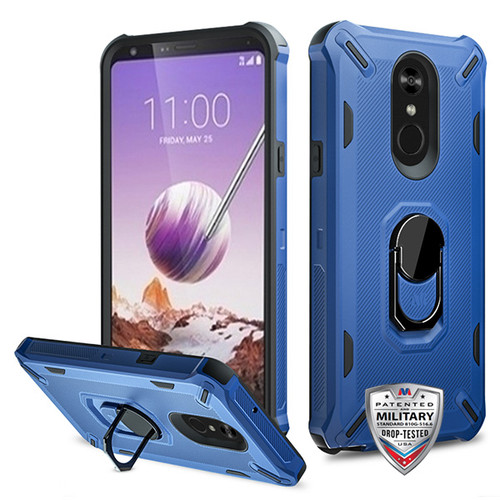 MyBat Brigade Hybrid Protector Cover (with Ring Stand) for Lg Stylo 5 - Ink Blue / Black