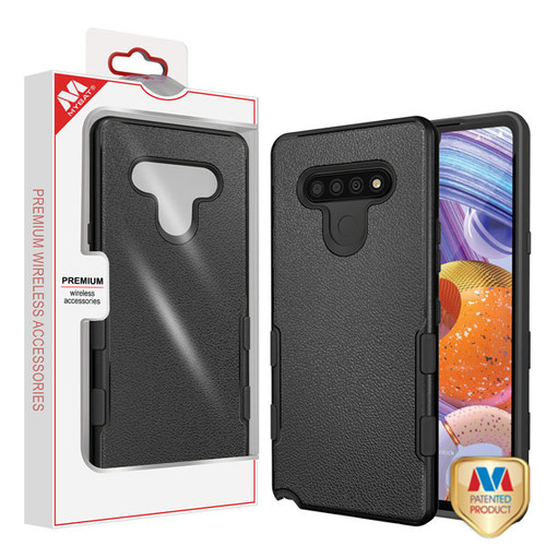 MyBat TUFF Subs Hybrid Case for Lg Stylo 6 - Natural Black / Black