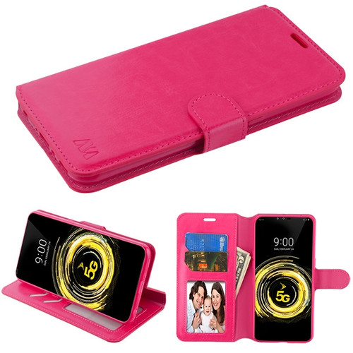 MyBat MyJacket Wallet Element Series for Lg V50 ThinQ - Hot Pink