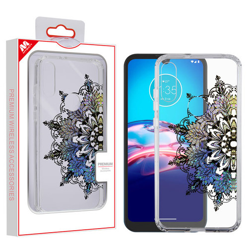 MyBat Fusion Protector Cover for Motorola Moto E (2020) - Transparent Classical Hot Color