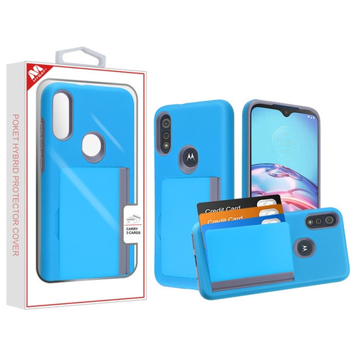 MyBat Poket Hybrid Protector Cover (with Back Film) for Motorola Moto E (2020) - Blue / Gray