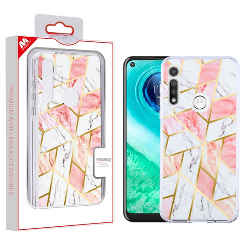 MyBat Fusion Protector Cover for Motorola Moto G Fast - Electroplated Pink Marbling