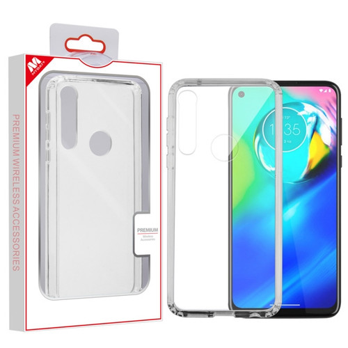 MyBat Sturdy Gummy Cover for Motorola Moto G Power - Highly Transparent Clear / Transparent Clear