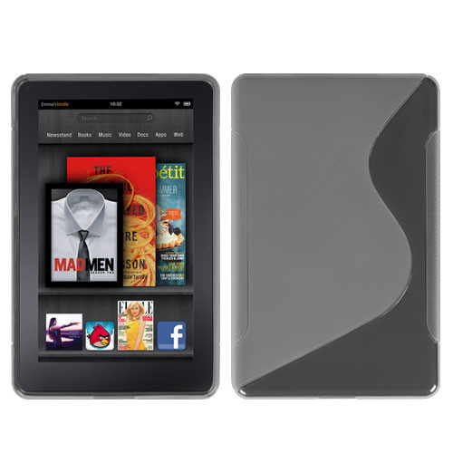 MyBat Candy Skin Cover (S Shape) for Kindle fire - Kindle fire Transparent Clear
