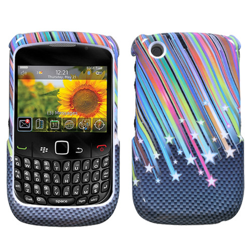 MyBat Protector Cover for Blackberry 8520 (Curve) - Carbon Star